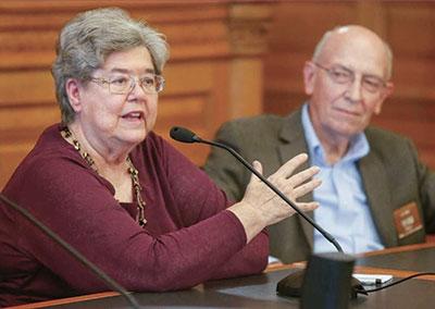 Former Kansas Representatives Rochelle Chronister and James Maag